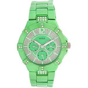 New Guess W11624L6 Ladies VISTA Green Watch